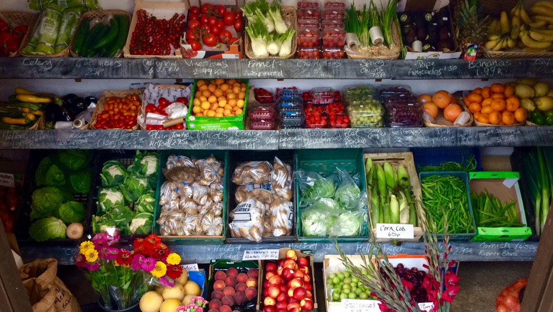 Seasonal And Fresh Local Fruit And Vegetables